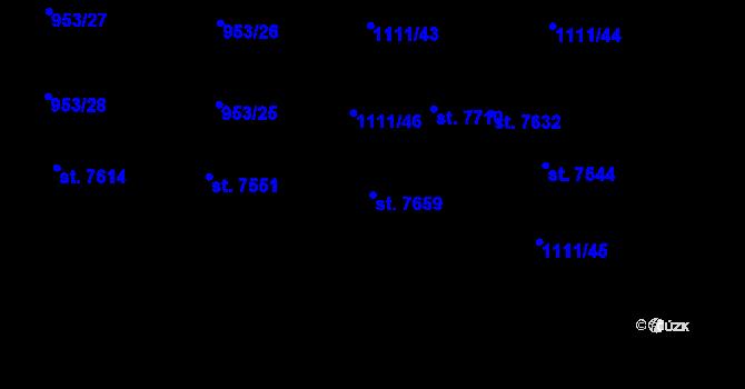 Parcela st. 7659 v k.ú. Cheb, Katastrální mapa