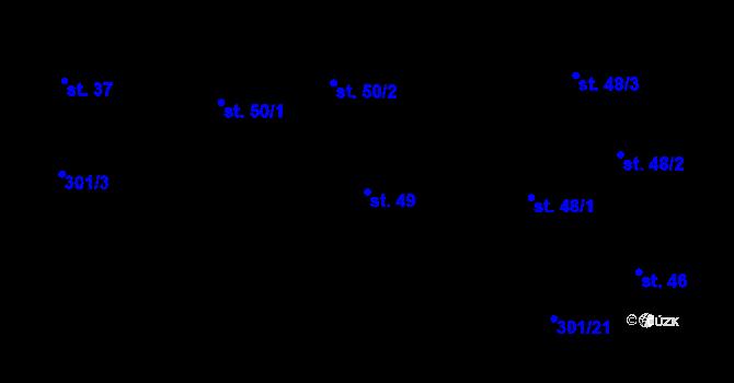 Parcela st. 49 v k.ú. Časy, Katastrální mapa