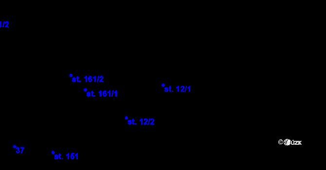 Parcela st. 12/1 v k.ú. Předboř u Choustníku, Katastrální mapa
