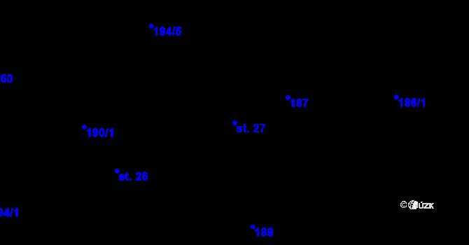 Parcela st. 27 v k.ú. Předboř u Choustníku, Katastrální mapa