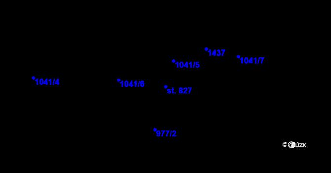 Parcela st. 827 v k.ú. Janov nad Nisou, Katastrální mapa