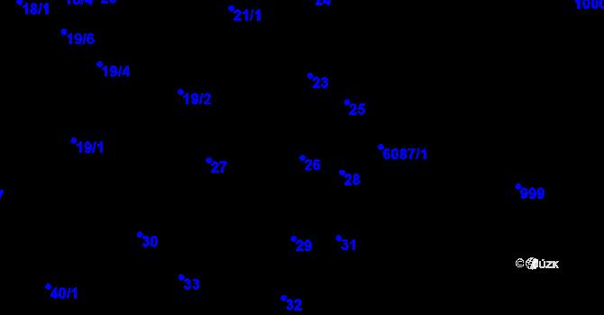 Parcela st. 26 v k.ú. Jihlava, Katastrální mapa