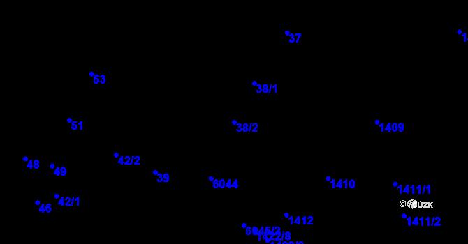 Parcela st. 38/2 v k.ú. Jihlava, Katastrální mapa