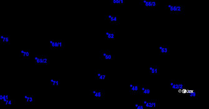 Parcela st. 50 v k.ú. Jihlava, Katastrální mapa
