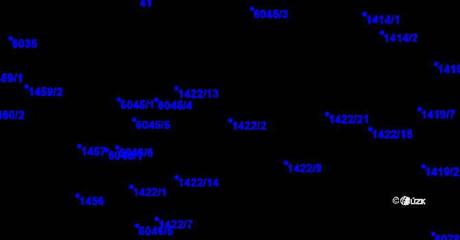 Parcela st. 1422/2 v k.ú. Jihlava, Katastrální mapa