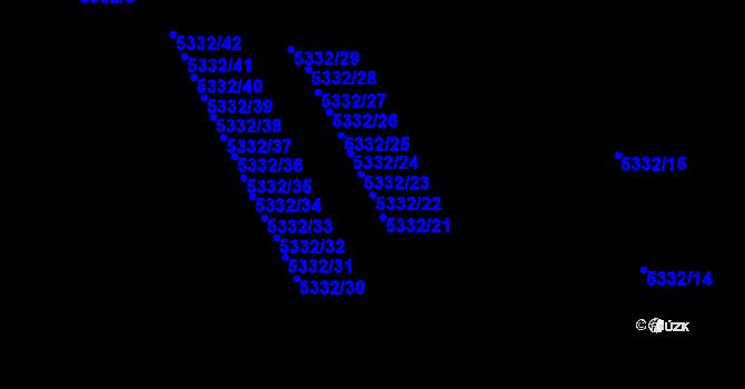 Parcela st. 5332/22 v k.ú. Jihlava, Katastrální mapa