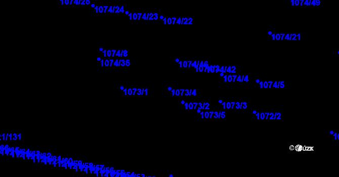 Parcela st. 1073/4 v k.ú. Jihlava, Katastrální mapa