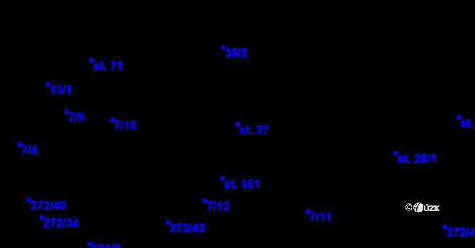 Parcela st. 27 v k.ú. Staré Hory, Katastrální mapa