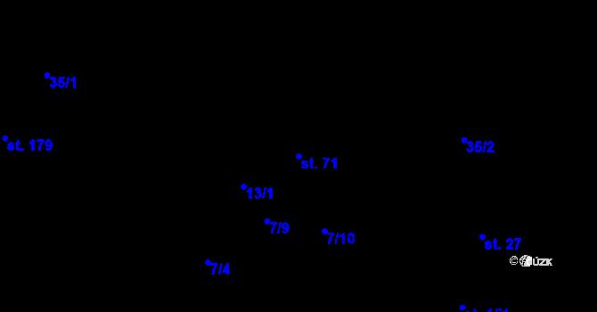Parcela st. 71 v k.ú. Staré Hory, Katastrální mapa