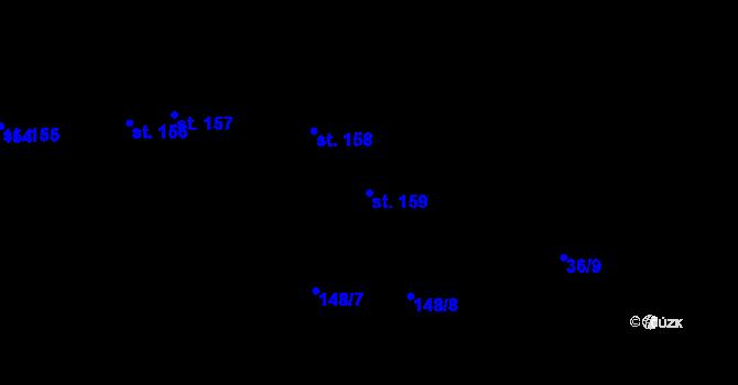 Parcela st. 159 v k.ú. Staré Hory, Katastrální mapa
