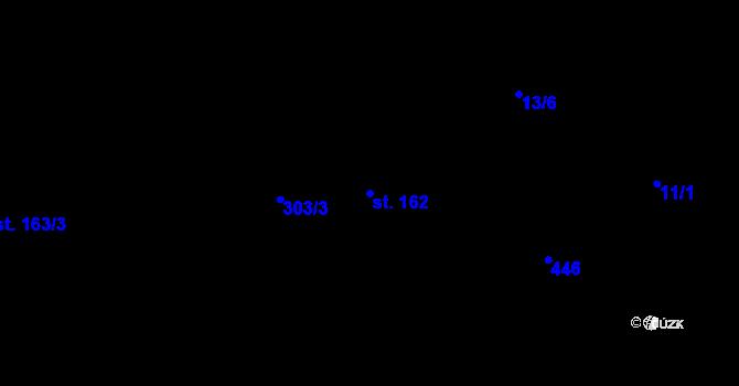 Parcela st. 162 v k.ú. Staré Hory, Katastrální mapa