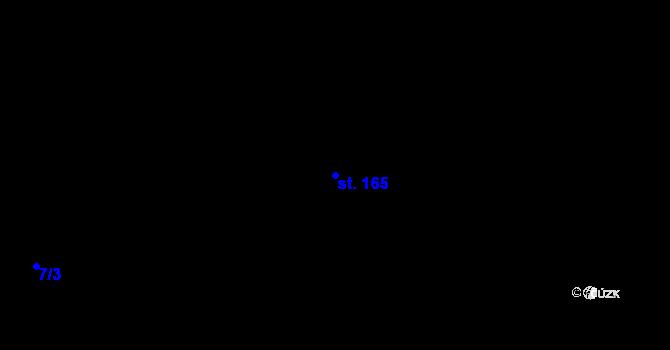 Parcela st. 165 v k.ú. Staré Hory, Katastrální mapa