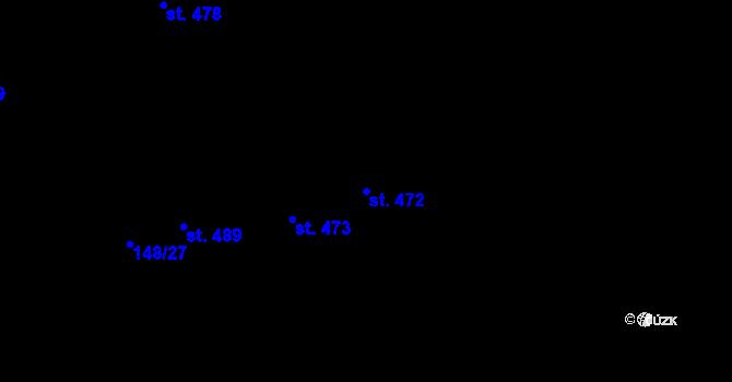 Parcela st. 472 v k.ú. Staré Hory, Katastrální mapa