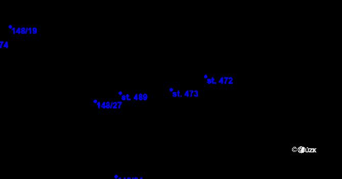 Parcela st. 473 v k.ú. Staré Hory, Katastrální mapa