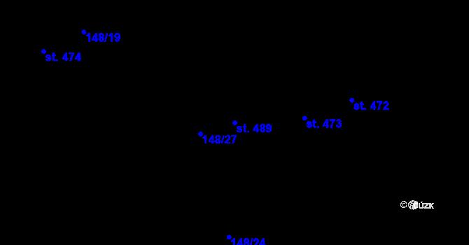 Parcela st. 489 v k.ú. Staré Hory, Katastrální mapa