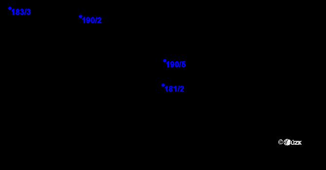Parcela st. 181/2 v k.ú. Staré Hory, Katastrální mapa