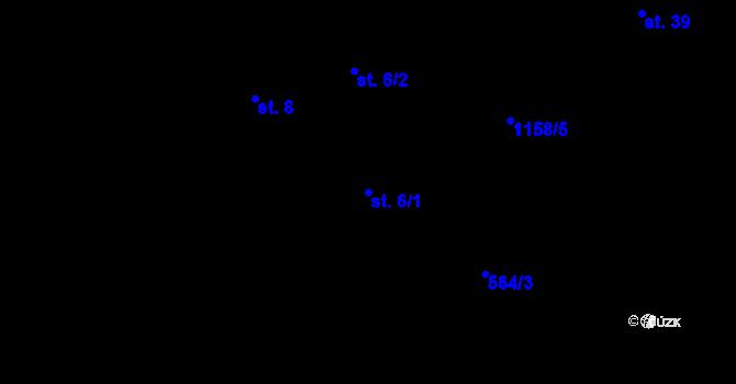Parcela st. 6/1 v k.ú. Jílovec, Katastrální mapa