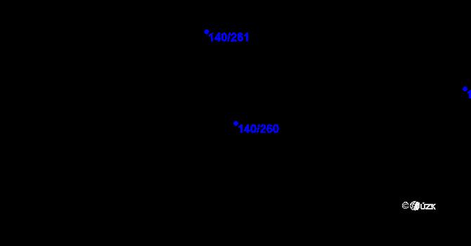 Parcela st. 140/260 v k.ú. Trnová u Jíloviště, Katastrální mapa