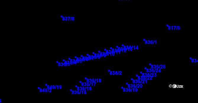 Parcela st. 836/10 v k.ú. Jirkov, Katastrální mapa