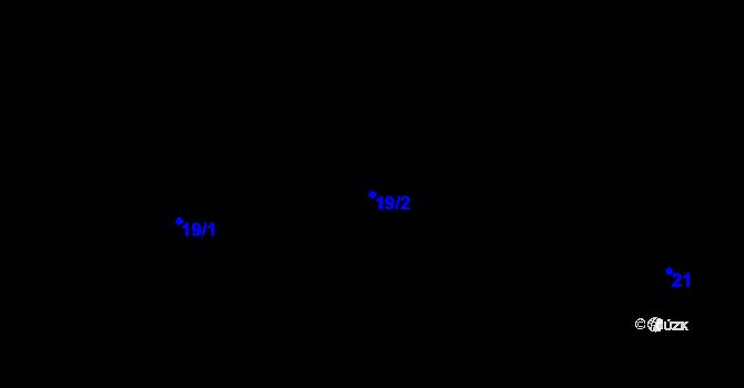 Parcela st. 19/2 v k.ú. Zásada u Kadaně, Katastrální mapa
