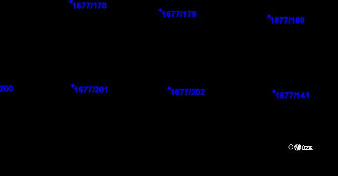 Parcela st. 1677/202 v k.ú. Kaplice, Katastrální mapa