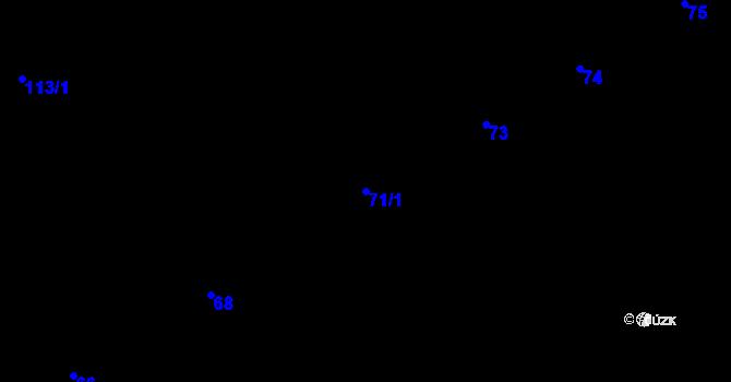 Parcela st. 71/1 v k.ú. Tuhnice, Katastrální mapa