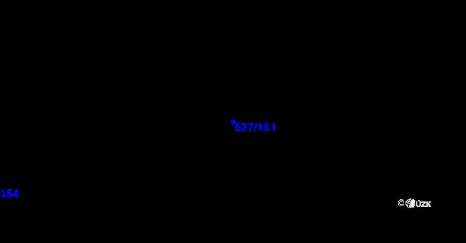 Parcela st. 527/151 v k.ú. Dvory, Katastrální mapa