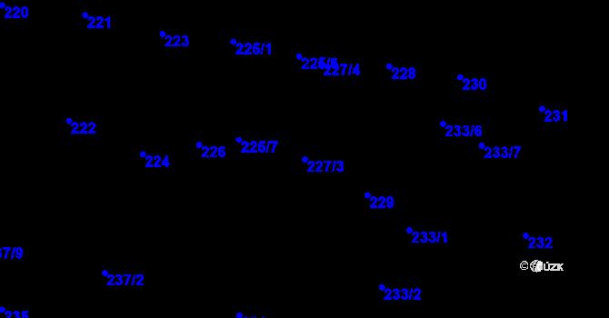Parcela st. 227/3 v k.ú. Rybáře, Katastrální mapa