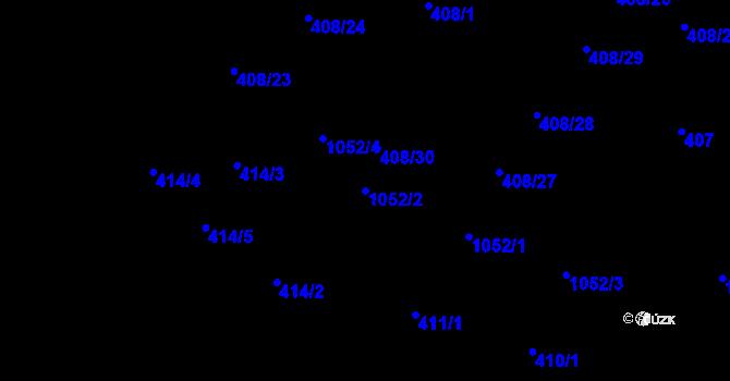 Parcela st. 1052/2 v k.ú. Rybáře, Katastrální mapa