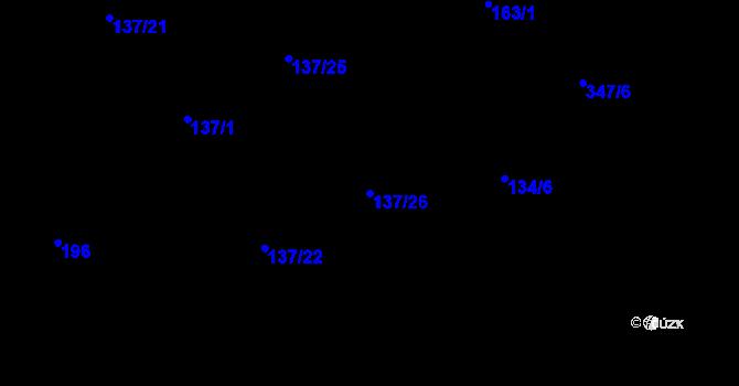 Parcela st. 137/26 v k.ú. Olšová Vrata, Katastrální mapa
