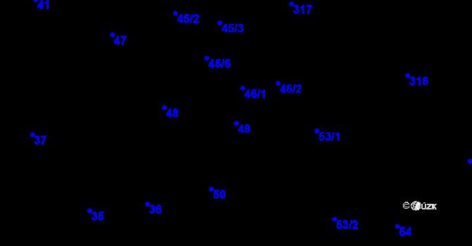 Parcela st. 49 v k.ú. Olšová Vrata, Katastrální mapa
