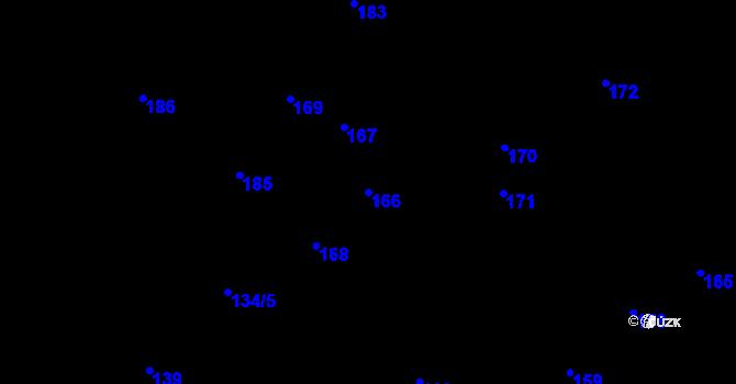 Parcela st. 166 v k.ú. Olšová Vrata, Katastrální mapa