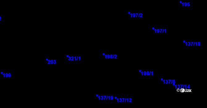 Parcela st. 198/2 v k.ú. Olšová Vrata, Katastrální mapa