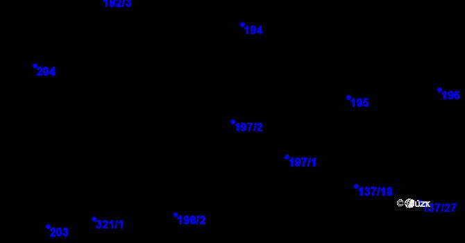 Parcela st. 197/2 v k.ú. Olšová Vrata, Katastrální mapa