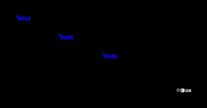 Parcela st. 80/66 v k.ú. Kařez, Katastrální mapa