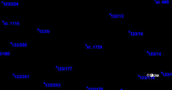 Parcela st. 1729 v k.ú. Rozdělov, Katastrální mapa