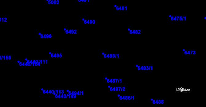 Parcela st. 6488/1 v k.ú. Kladno, Katastrální mapa