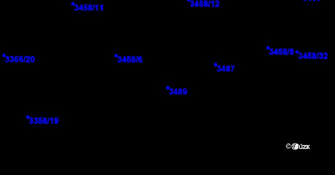 Parcela st. 3489 v k.ú. Kročehlavy, Katastrální mapa