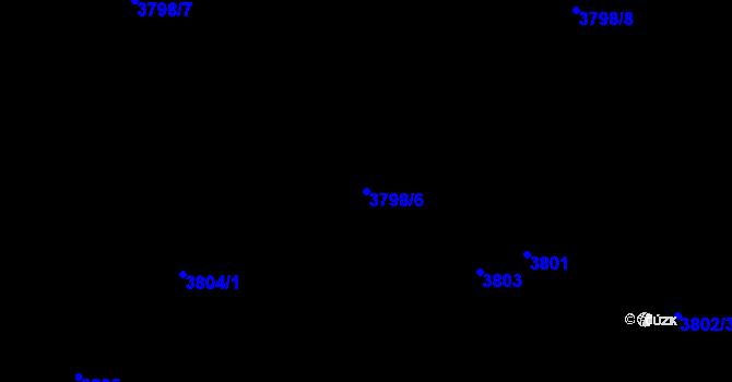 Parcela st. 3798/6 v k.ú. Kročehlavy, Katastrální mapa