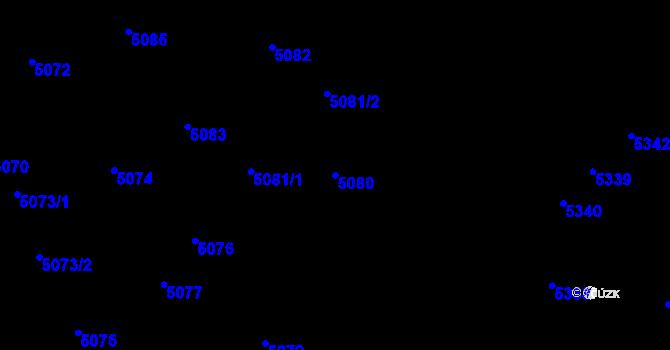 Parcela st. 5080 v k.ú. Kročehlavy, Katastrální mapa