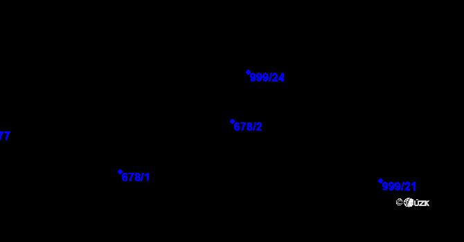 Parcela st. 678/2 v k.ú. Klikov, Katastrální mapa