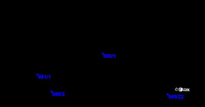 Parcela st. 680/1 v k.ú. Klikov, Katastrální mapa