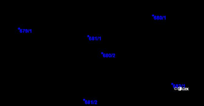 Parcela st. 680/2 v k.ú. Klikov, Katastrální mapa