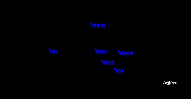 Parcela st. 682/1 v k.ú. Klikov, Katastrální mapa