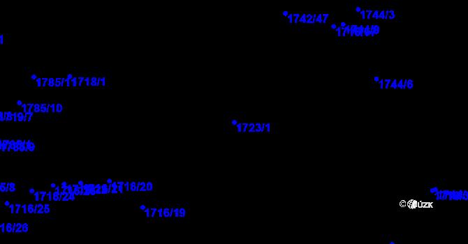 Parcela st. 1723/1 v k.ú. Kojákovice, Katastrální mapa