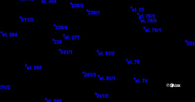Parcela st. 81/2 v k.ú. Kokory, Katastrální mapa