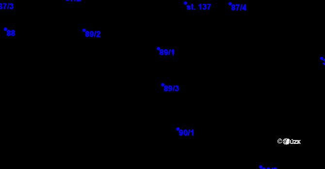 Parcela st. 89/3 v k.ú. Kokory, Katastrální mapa