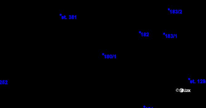 Parcela st. 180/1 v k.ú. Kokory, Katastrální mapa