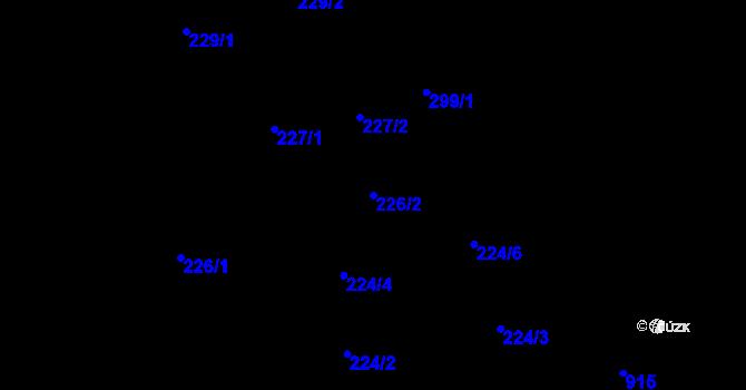Parcela st. 226/2 v k.ú. Kokory, Katastrální mapa
