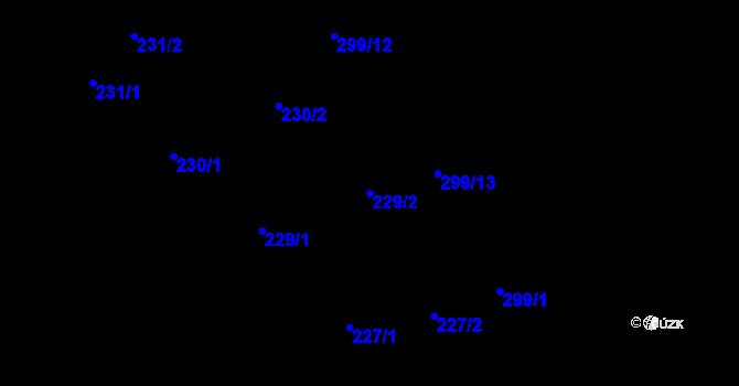 Parcela st. 229/2 v k.ú. Kokory, Katastrální mapa